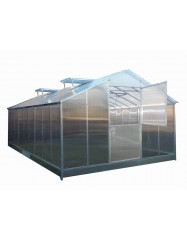 Greenhouse with triangle roof