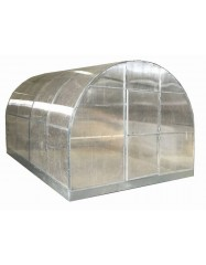 Greenhouse with round roof